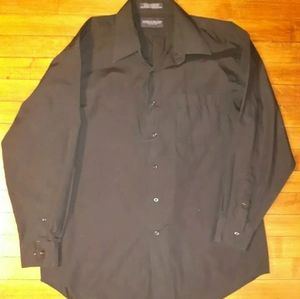 Black Giorgio Brutini Dress Shirt Size L 16-161/2